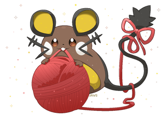Shiny Dedenne by Willow-Pendragon