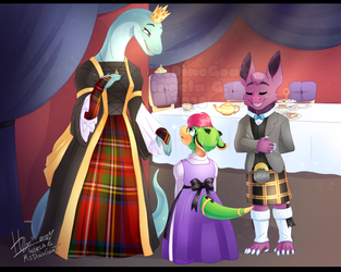In the halls of the highland Queen by MsDinoGoat