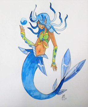 Blue Mermaid by RedVioletPanda