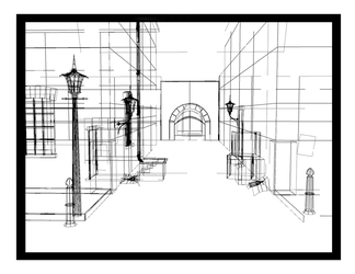Wireframe Alley by The-Oubliette