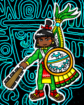 Aztec warrior by nosuku-k
