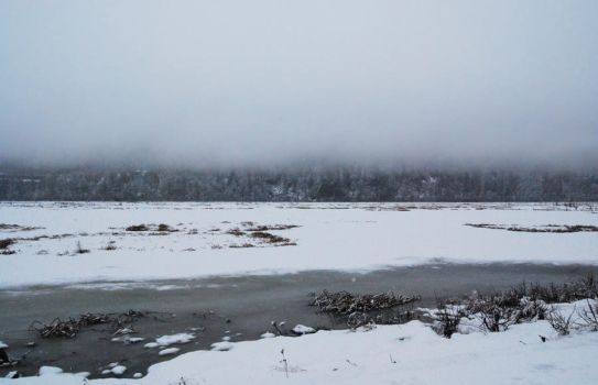 Winter Lake 3 by prints-of-stock