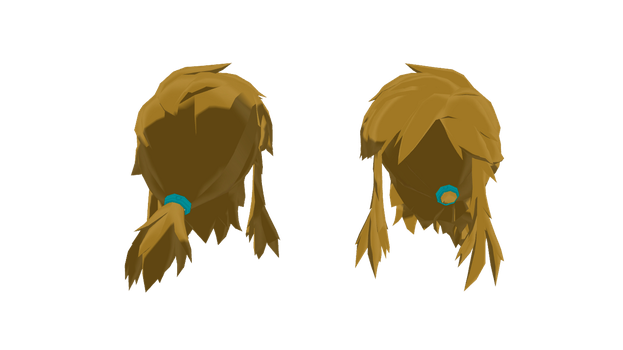  MMD Part - Link Hair (BoTW) [+Dl]  by Hylian-Ale