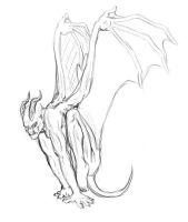 Demon concept pose 4 by Fallimar