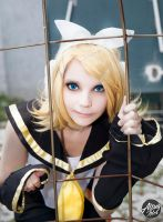 Kagamine Rin cosplay - Bird in a Cage by altugisler