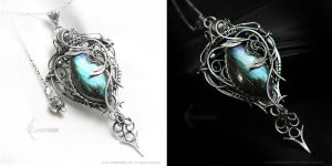 ARRELITHER Silver and Labradorite by LUNARIEEN