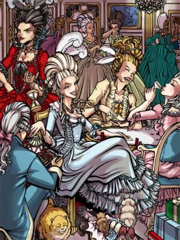 Marie Antoinette by savagesparrow
