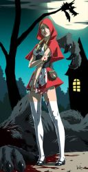 Little Blood Red Riding Hood by kit-kit-kit