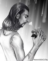 Dave  Gahan with rose by Beautiful-lie78