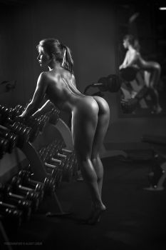 Nude fitness instructor #2 by lobur