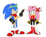 Sonic and Amy Redesigns by Eshi90