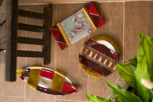 Fused Glass Plates- Tribal by JuliaMP