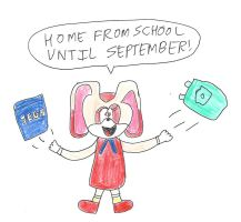 Cream the Rabbit - End of school year by dth1971