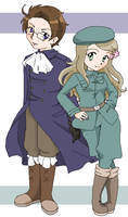 Hetalia: Austria and Hungary by pinkkittypower