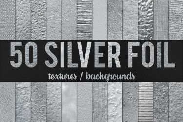 50 Silver Foil Textures / Backgrounds by GraphicAssets
