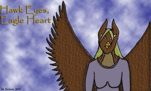 Winged Woman -- Color by samiitiger