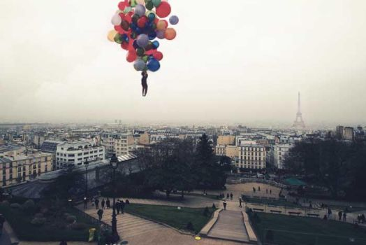Above Paris by VhPhoto