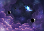 Purple Space by StormyandRescuer