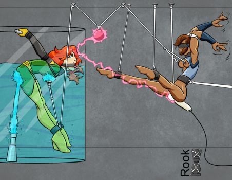 Korra and Jean Grey by Rook-07