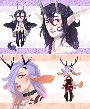 Adopt extras - humandisaster by Blackberreh-Adopts