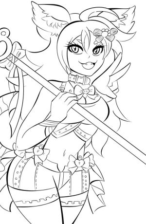 Lily Line Art by Gabby413