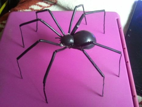 Handmade Giant Black Widow Spider by BenorianHardback26