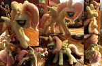 Fluttershy Plush comission piece by QueenAnneka