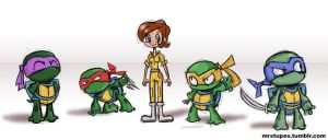 TMNT Doodle by mrstupes