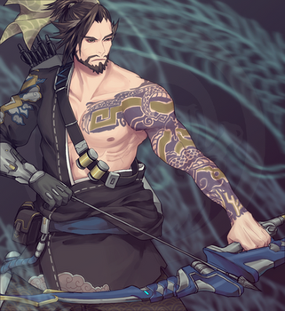 Hanzo Overwatch by vanillatte54