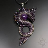 Dragon pendant with amethyst by Sol89