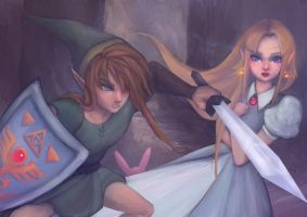 The Legend of Zelda - A Link to the Past by Glaciie
