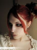 Emilie Autumn make-up by petra-gergely