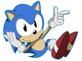 Classic Sonic by Krizeii