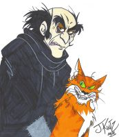Gargamel and Azrael by Rinkusu001