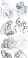 Sketchdump ffxv style by GhostlySketcher