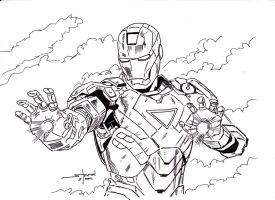 Iron Man inked by StevenWilcox
