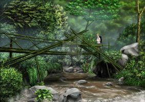 Bridge To The Rainbow Fall by ferryo