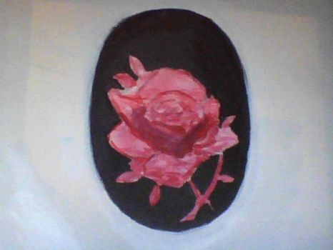 Cameo Rose Painting. by dryfus777