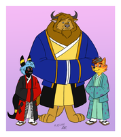 Kimono Clad Clan by RetroUniverseArt by BenBandicoot
