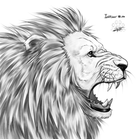 Inktober 14 : lion by Lily-Fu