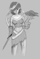 Dryad Bonzai Warrior by Germille