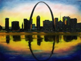 St. Louis Sunset by DonBowling