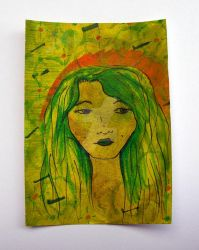 Maiden - original ACEO by charityhendrix