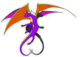 Spyro and Cynder by Kitty-x-Kat