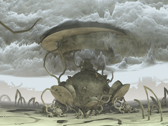 clouds by heightmap - Mandelbulb3D with Parameter by matze2001