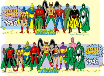 Justice Society of America (1940 and 1942) by BoybluesDCU