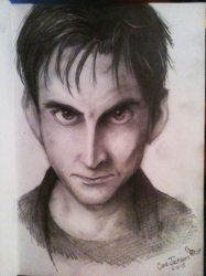 David Tennant Drawing by khghibli