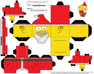 Cubee - Santa Homer by CyberDrone