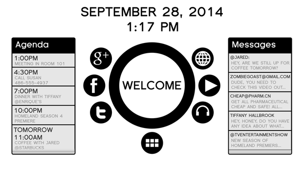 Black and White User Interface Mockup by BenWurth