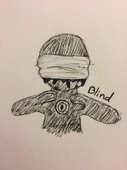 Inktober Day 24: Blind by Panolli
